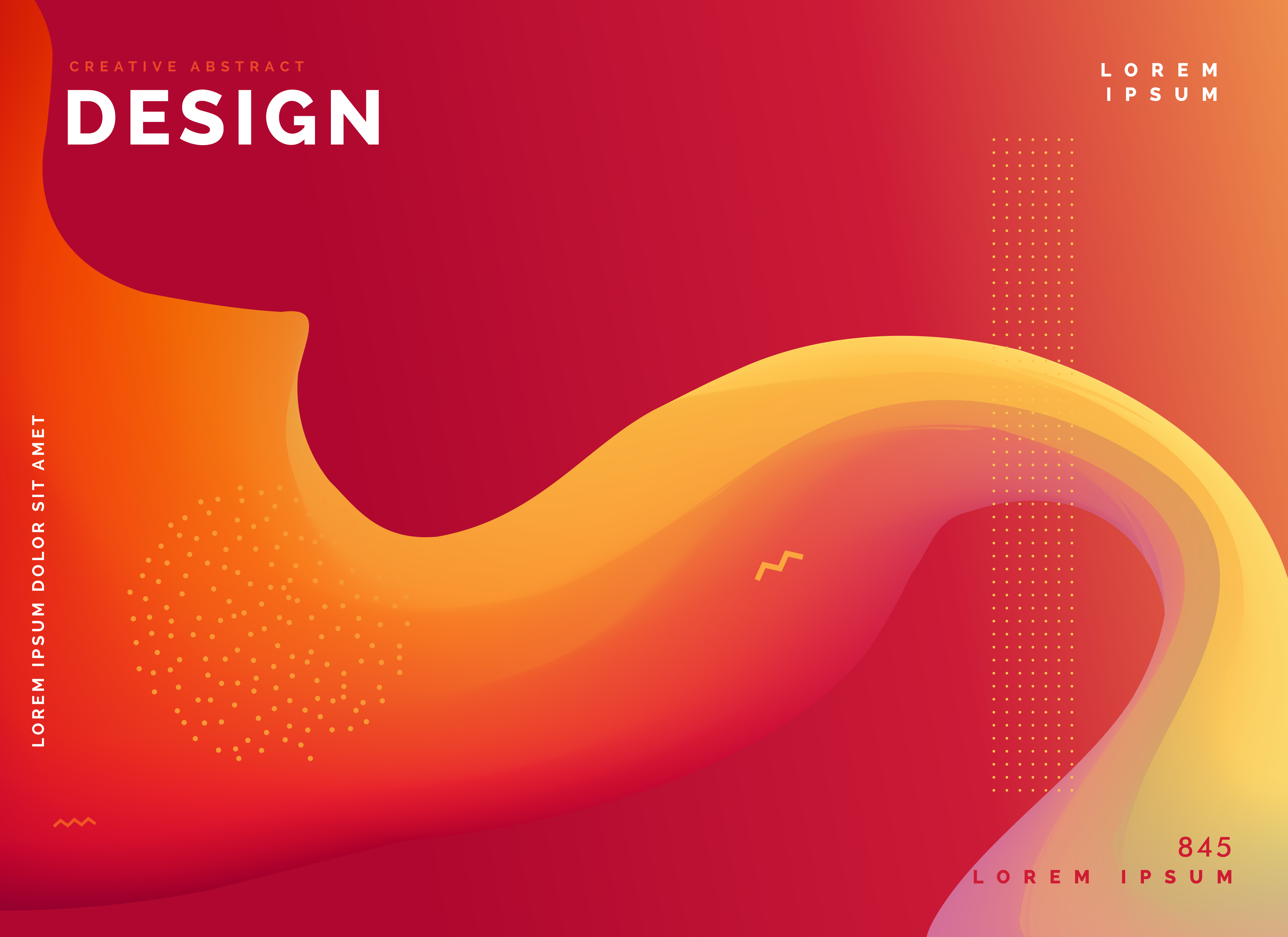Trendy Poster Designs: Colorful Wave Template Poster Design Background
