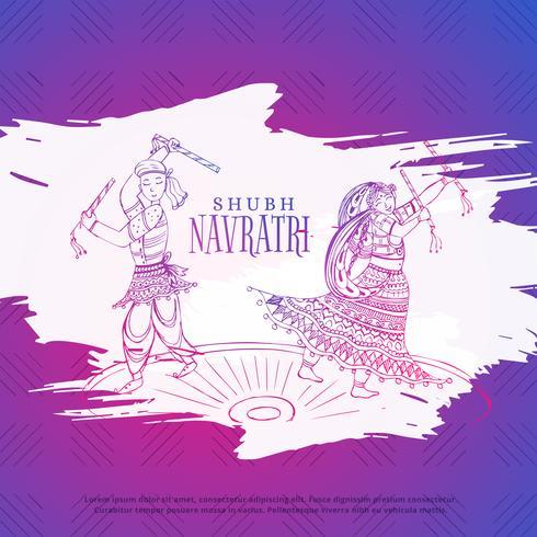 couple playing dandiya in navratri dusseshra festival