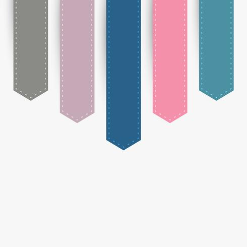 retro ribbons set vector design