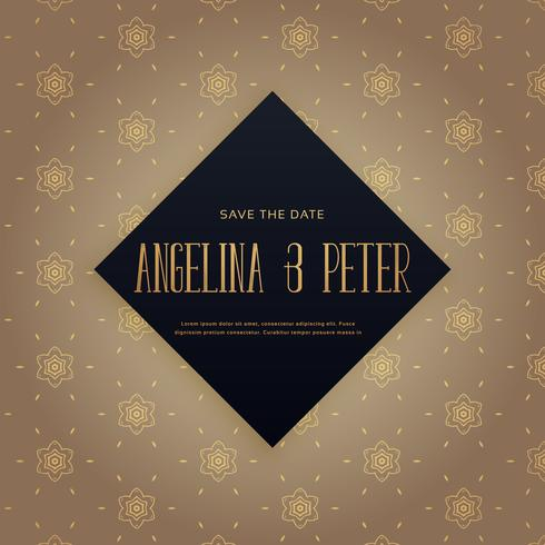 elehant premium wedding invitation background design