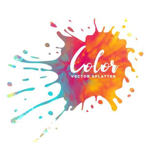 colorful ink splatter watercolor background