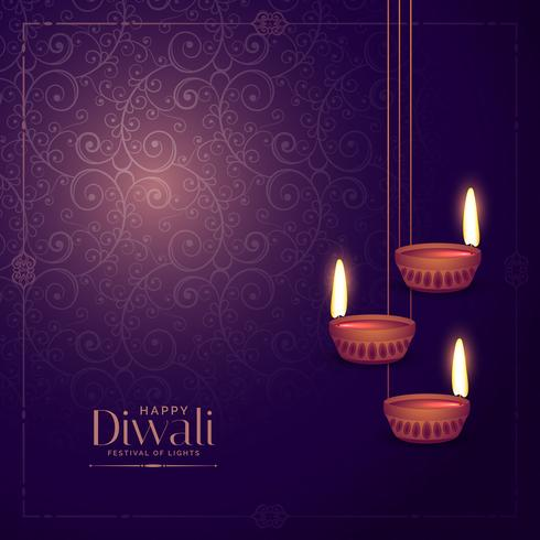 handing diwali lamp diya with floral background