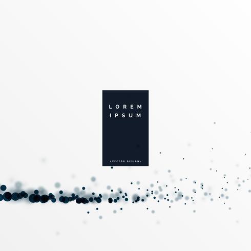 vit bakgrund med svart partikel effekt