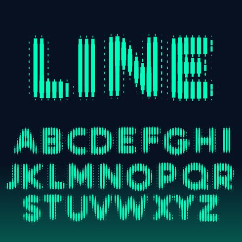 alphabet font made with bold lines