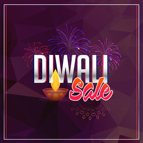 diwali verkoop achtergrond met vuurwerk