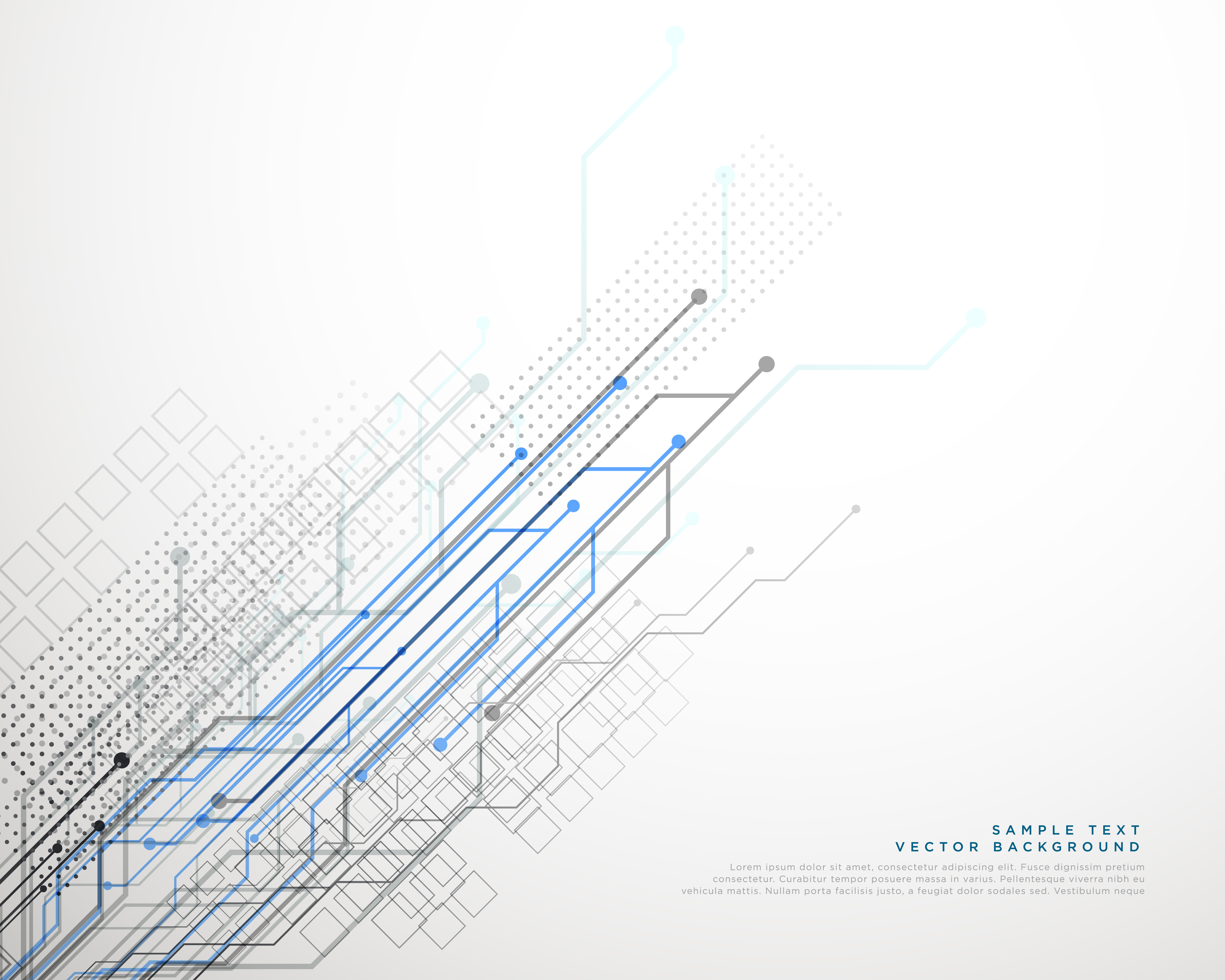 Vector Drawing Lines Examples : Technology network lines vector background download free