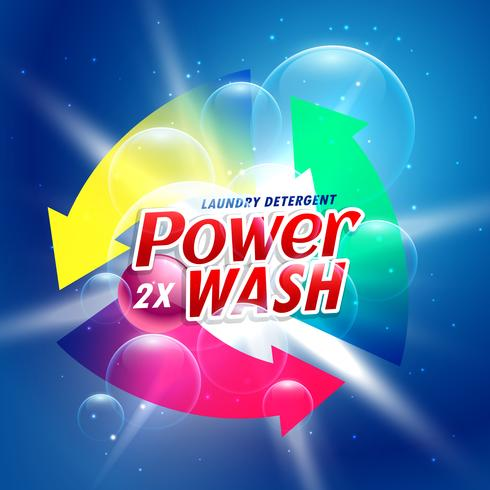 power wash detergent powder packaging concept design template
