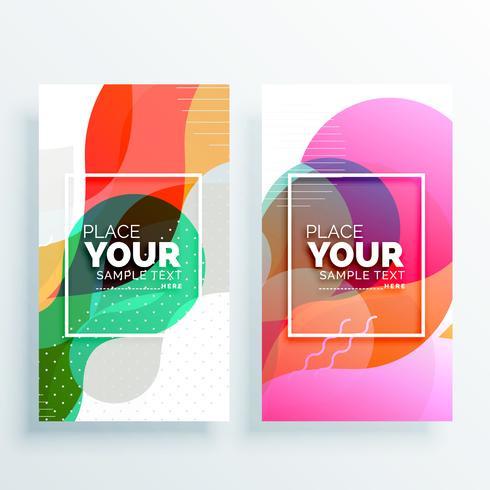 conjunto de bandeiras abstrato colorido criativo