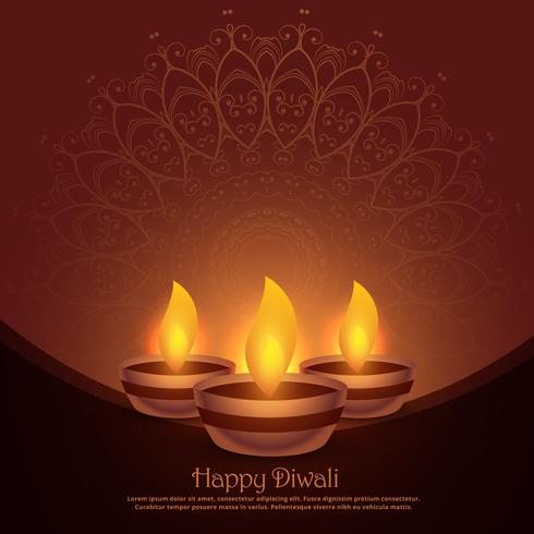 beautiful diwali diya festival background