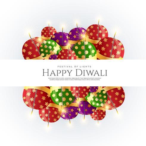 Diwali Cracker Bomben Vektor Hintergrunddesign