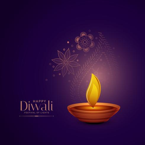 elegant diwali festival greeting background