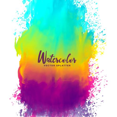 rainbow color watercolor splash stain background