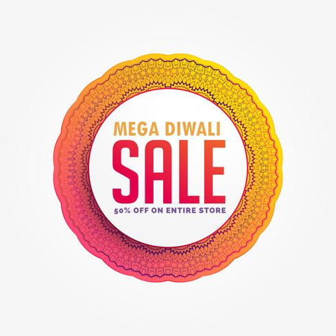mega diwali sale banner design background