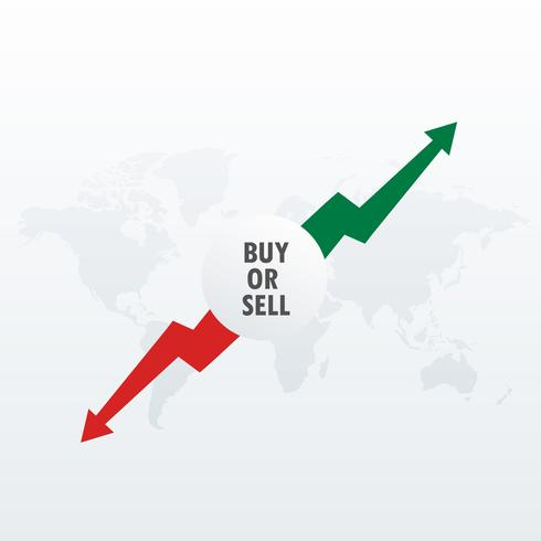 stock market trading investment concept design with buy and sell
