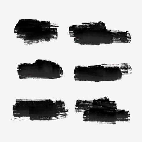 six coups de pinceau grunge