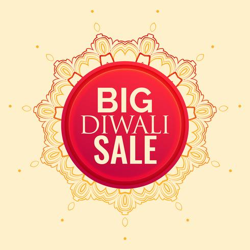 diwali sale poster design with mandala decoration