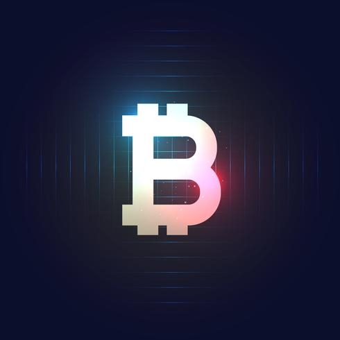 bitcoin symbol on dark blue background