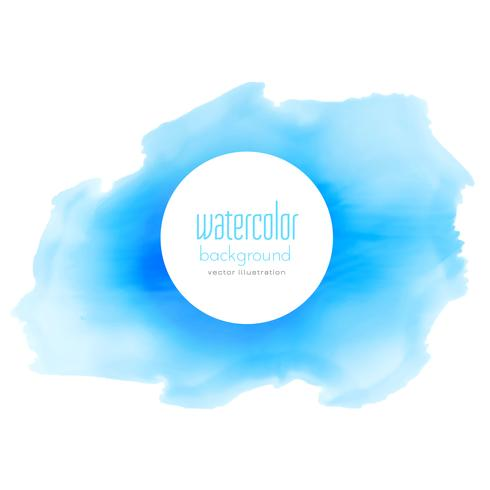 blue ink watercolor vector stain background