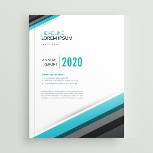elegant annual report brochure design template with diagonal str