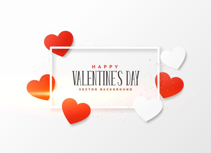 beautiful valentine's day background with red and white hearts