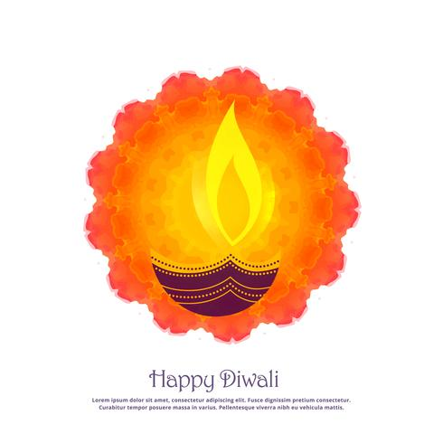 beautiful diwali festival greeting background