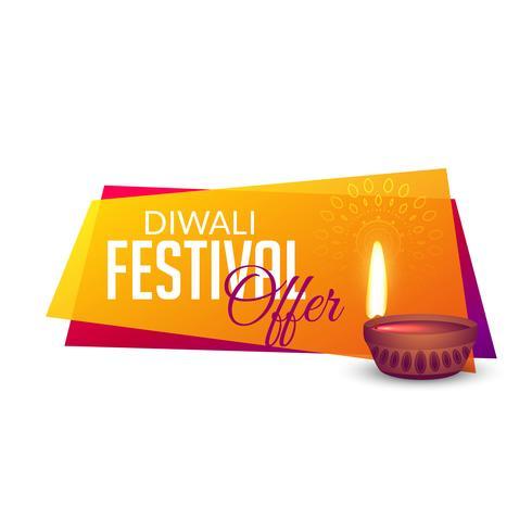 diwali festival offers voucher banner design background