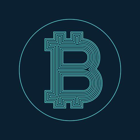 digital bitcoin currency symbol vector design