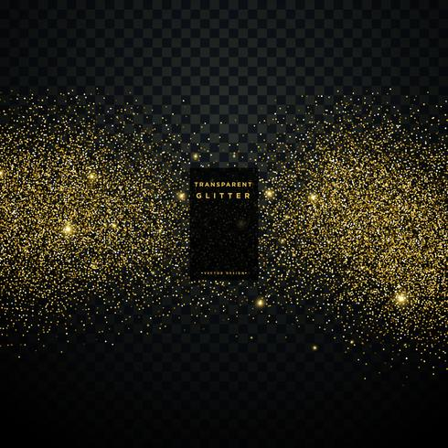 black background with golden glitter particle celebration backgr