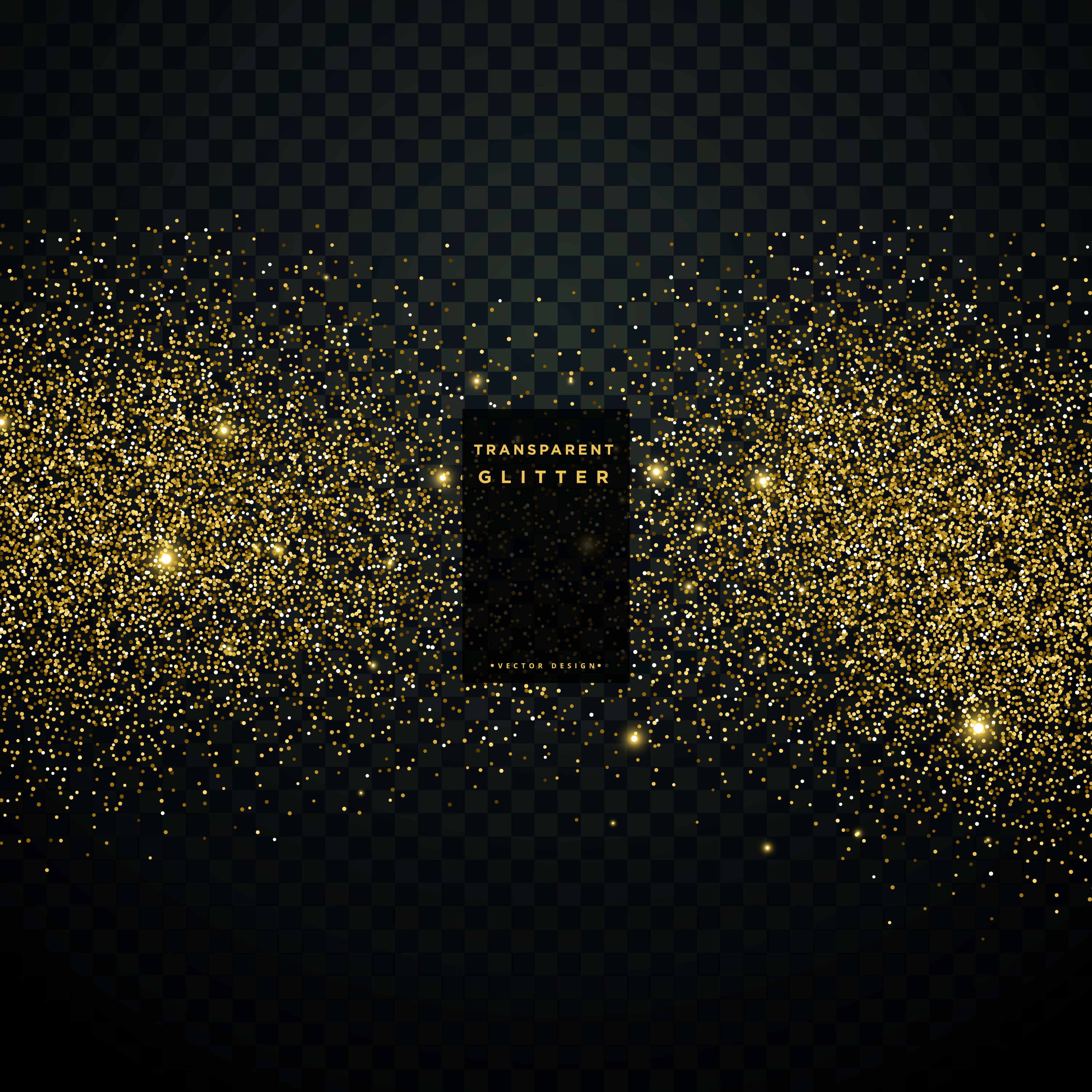 Black Background With Golden Glitter Particle Celebration