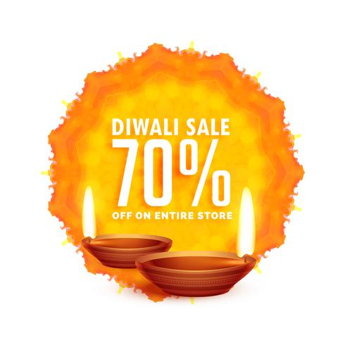 diwali sale background with diya