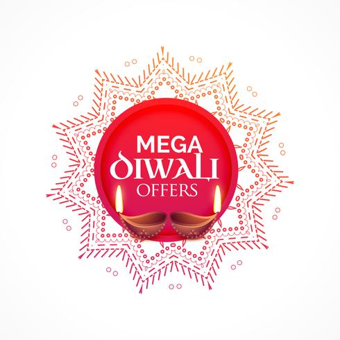 diwali sale background with diya and decorative design