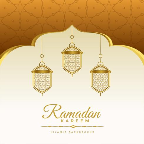 elegant ramadan kareem holiday background