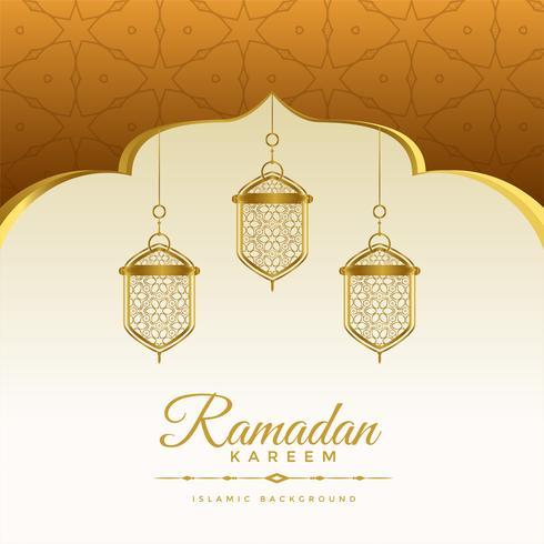 eleganter Ramadan Kareem-Feiertagshintergrund