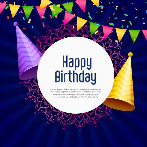 happy birthday party celebration vector background