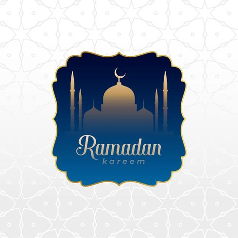 islamic ramadan kareem background design