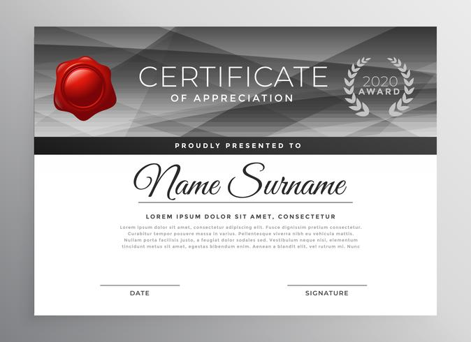 abstract certificate template design vector
