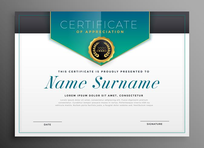 elegant certificate template with luxury modern design