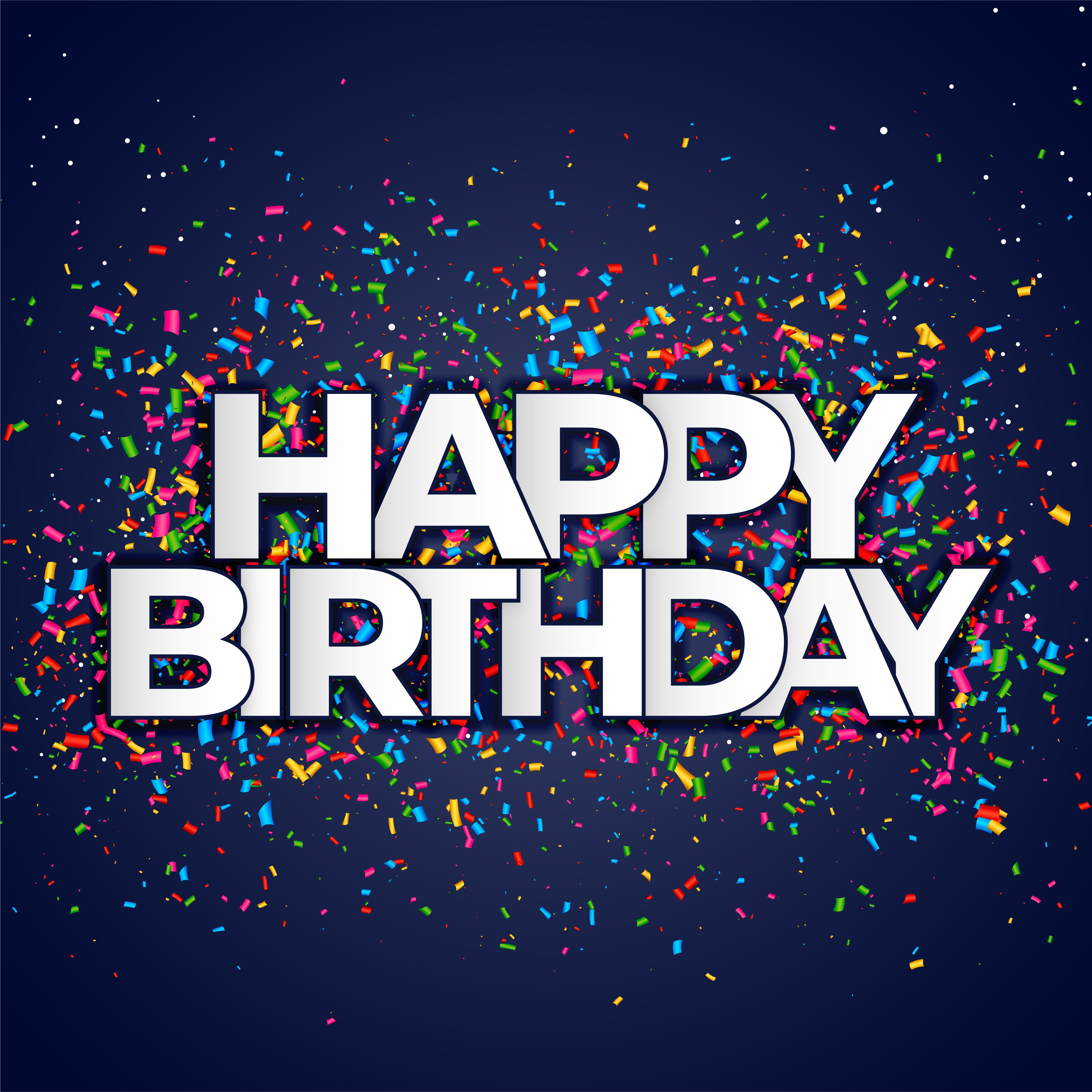 Happy Birthday Banner Free Vector Art