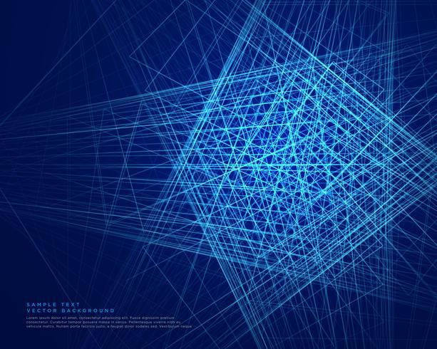 Fondo de tecnología web líneas abstractas azul
