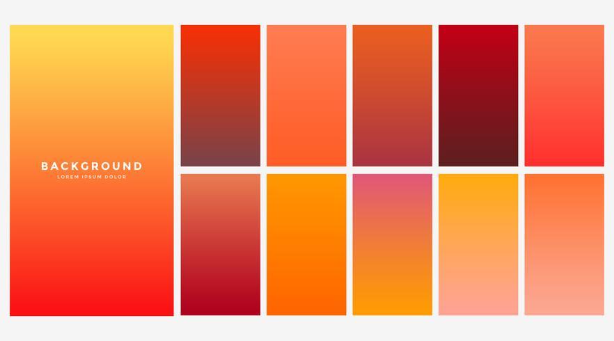 helle orange Herbstfarbverläufe eingestellt