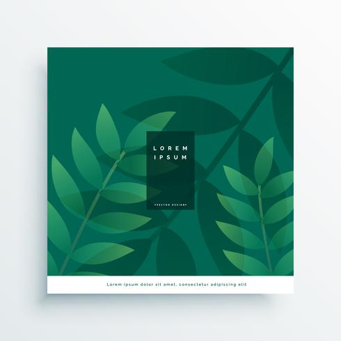green nature leaves vector design
