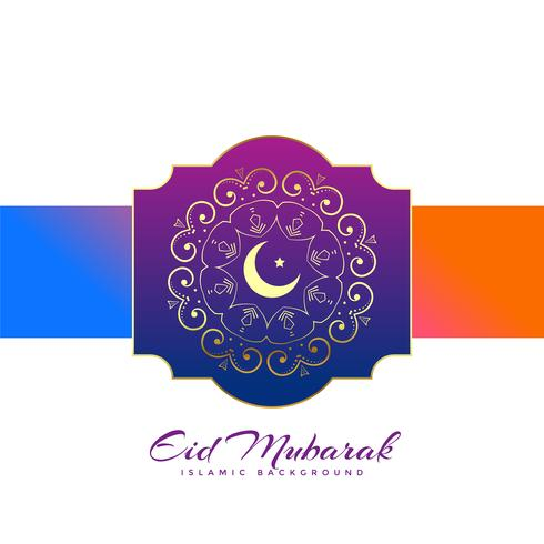 creative eid mubarak festival greeting design