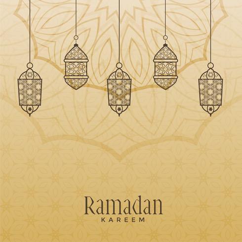 Vintage-Stil Ramadan Kareem Hintergrund