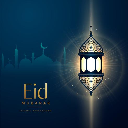 glowing lantern design for eid festival