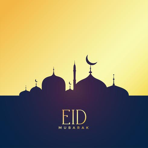 premium eid mubarak golden background