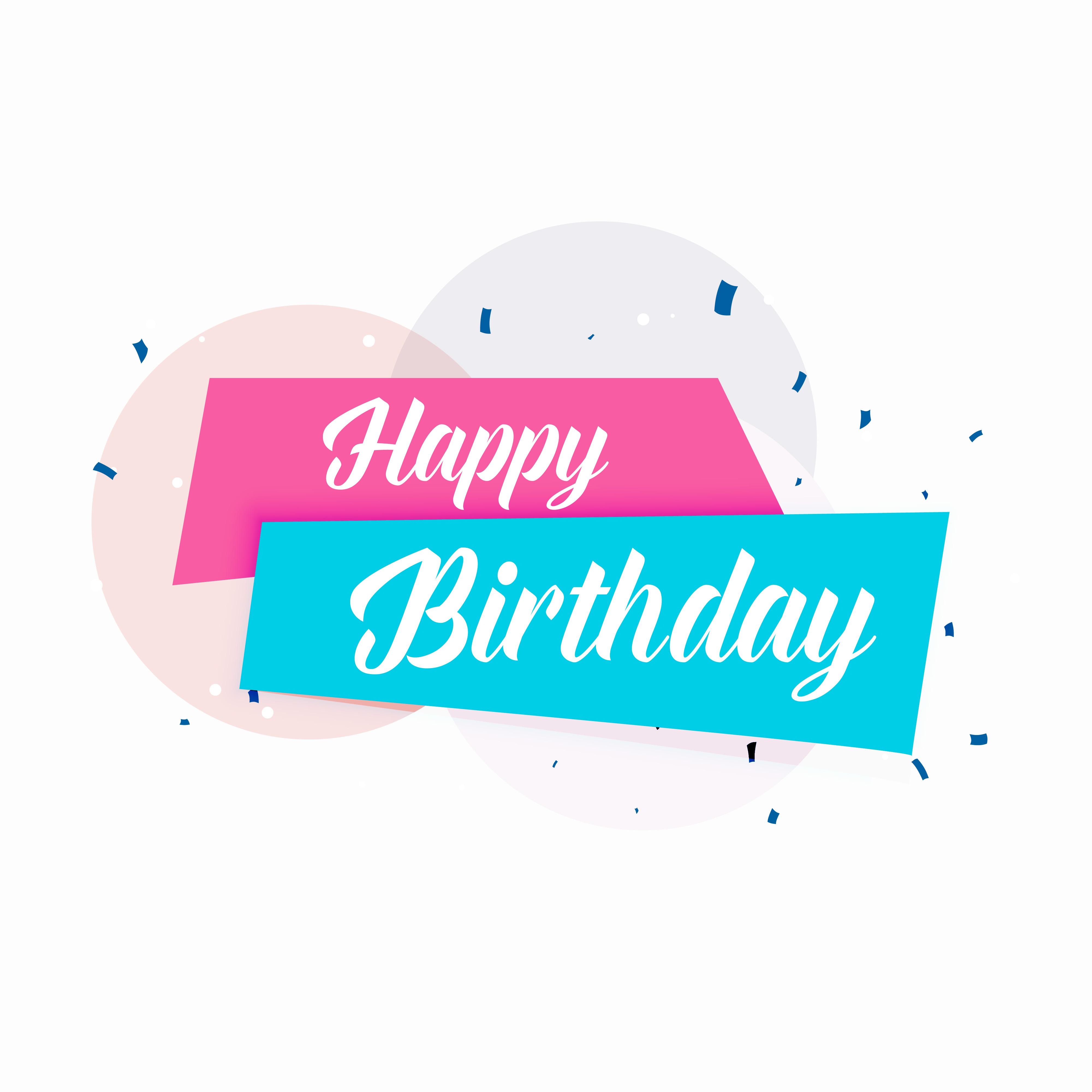 Happy Birthday Vector Simple Card Design