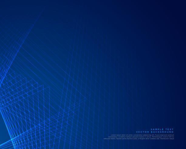 diseño de vectores de fondo de líneas azules