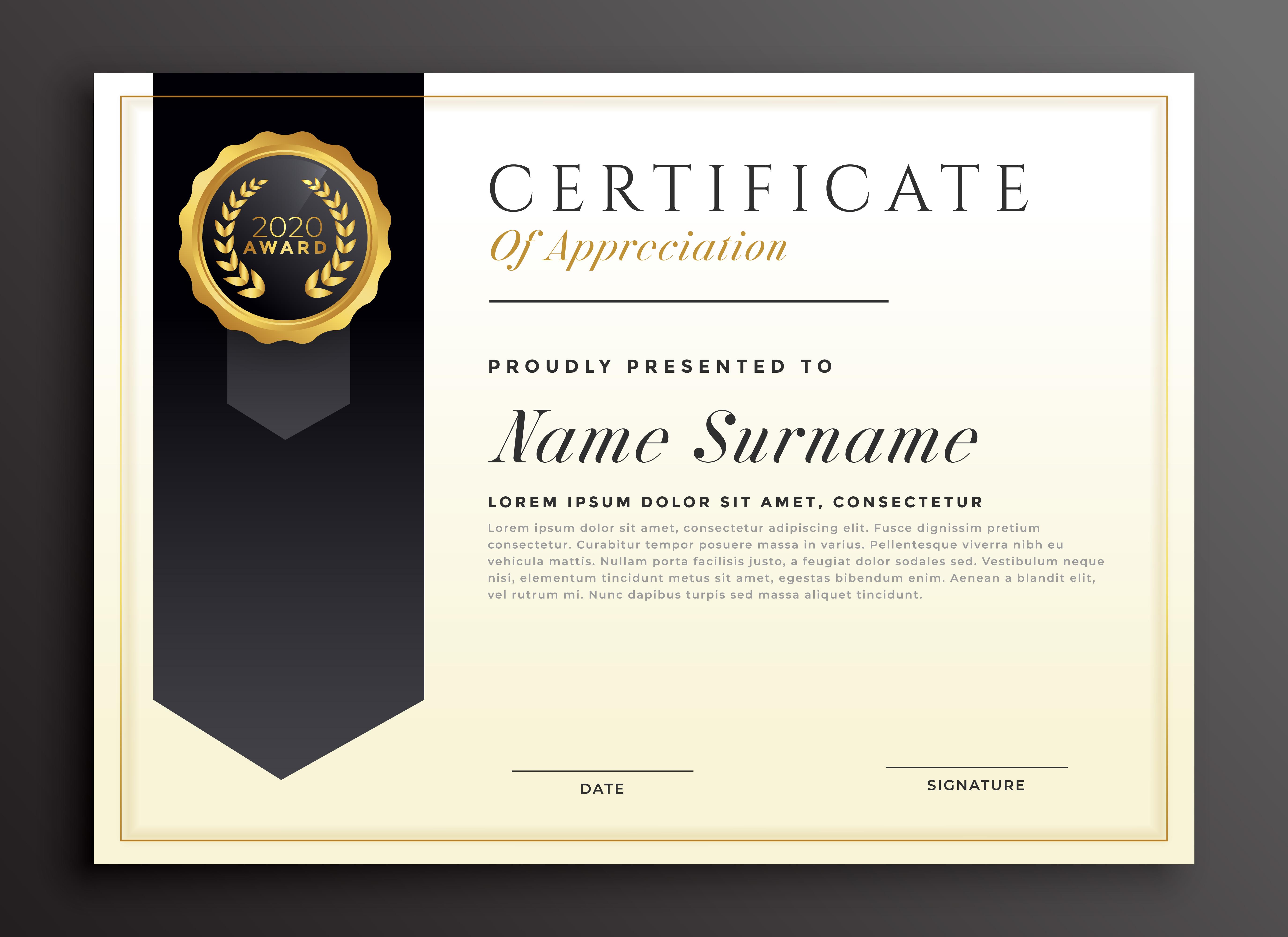 elegant diploma award certificate template design ...