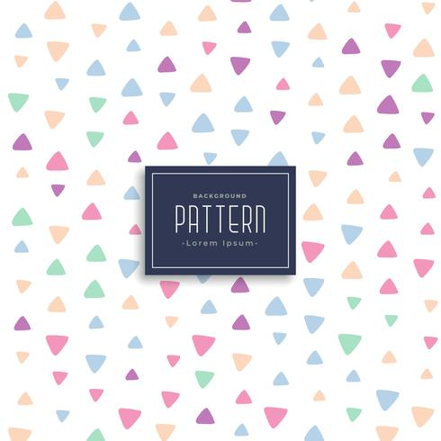 cute triangle patterns vector background