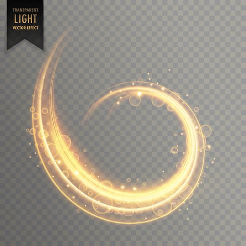 elemento de vetor de efeito de luz transparente